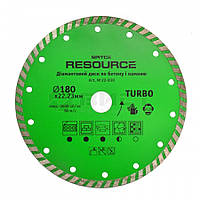 """Алмазний диск """"TURBO"""", 180мм, Resource 22-830 SPITCE // Алмазный диск """"TURBO"""", Resource"""