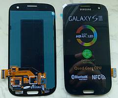 Дисплей модуль Samsung i9300 S3 GT-i9300 в зборі з тачскріном, чорний
