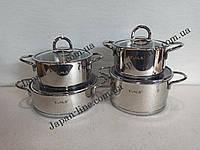 Набор кухонной посуды O.M.S. Collection 1097  ( 3 каст. 2,3 л. 3 л. 4,3 л. + Сотейник 3 л.)