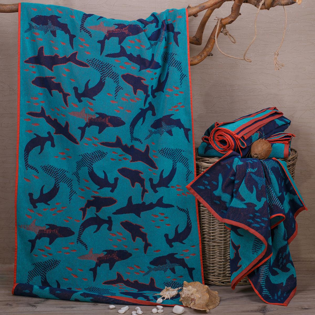 Полотенце махровое ТМ Речицкий текстиль, Ныряй к нам 81х160 см