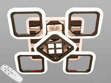 Люстра потолочная светодиодная  с диммером 105W Черный хром