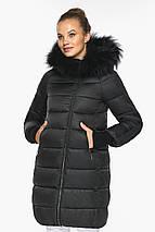 Куртка на змійці жіноча чорна модель 42150, фото 2