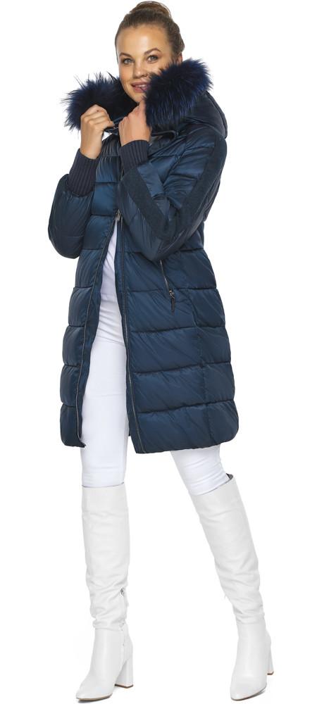 Сапфировая куртка стильная женская модель 42150