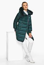 Смарагдова куртка жіноча з капюшоном модель 42150, фото 3