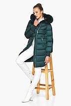 Изумрудная куртка женская с капюшоном модель 42150, фото 3