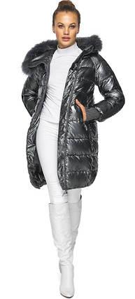 Куртка з кишенями жіноча колір темне срібло модель 42150, фото 2