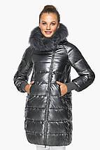 Куртка з кишенями жіноча колір темне срібло модель 42150, фото 3