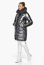 Куртка с карманами женская цвет темное серебро модель 42150, фото 2