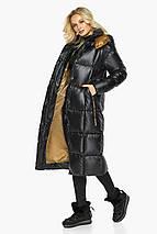 Тепла куртка жіноча чорна модель 42830, фото 2