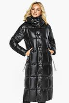 Тепла куртка жіноча чорна модель 42830, фото 3