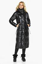 Теплая куртка женская черная модель 42830, фото 3