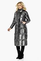Женская куртка с карманами цвет темное серебро модель 42830, фото 3