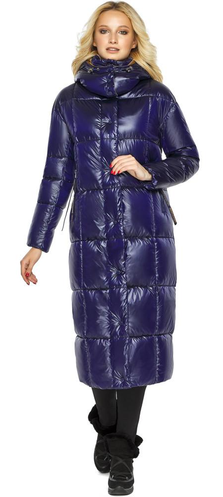 Куртка жіноча фірмова колір синій оксамит модель 42830