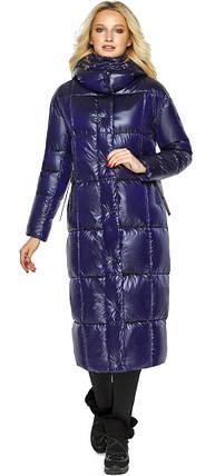 Куртка жіноча фірмова колір синій оксамит модель 42830, фото 2