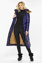 Куртка жіноча фірмова колір синій оксамит модель 42830, фото 3