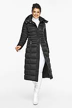 Куртка полуприталенного фасону жіноча колір чорний модель 43575, фото 2