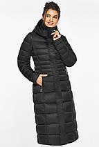 Куртка полуприталенного фасону жіноча колір чорний модель 43575, фото 3