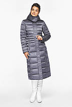 Жіноча куртка тепла колір перлинно-сірий модель 43575, фото 2
