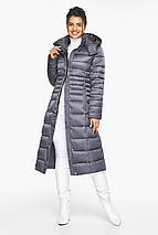 Женская куртка теплая цвет жемчужно-серый модель 43575, фото 3