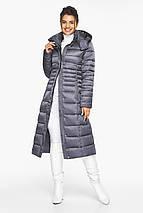 Жіноча куртка тепла колір перлинно-сірий модель 43575, фото 3