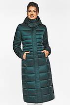 Изумрудная куртка женская с трикотажными манжетами модель 43575, фото 2