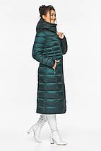 Смарагдова куртка жіноча з трикотажними манжетами модель 43575, фото 3