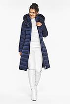 Куртка с ветрозащитной планкой женская цвет синий бархат модель 44860, фото 3