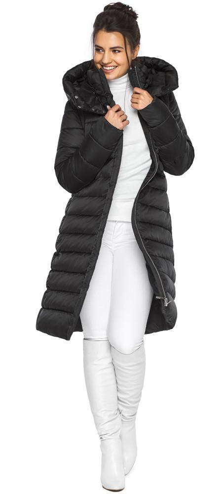 Куртка подовжена жіноча колір чорний модель 44860