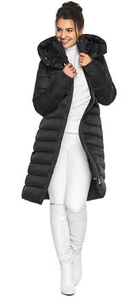 Куртка подовжена жіноча колір чорний модель 44860, фото 2