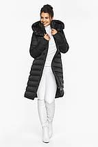 Куртка удлиненная женская цвет черный модель 44860, фото 2
