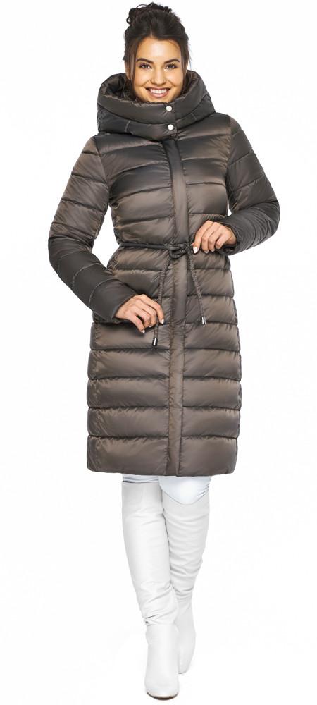 Куртка с капюшоном женская цвет капучино модель 44860