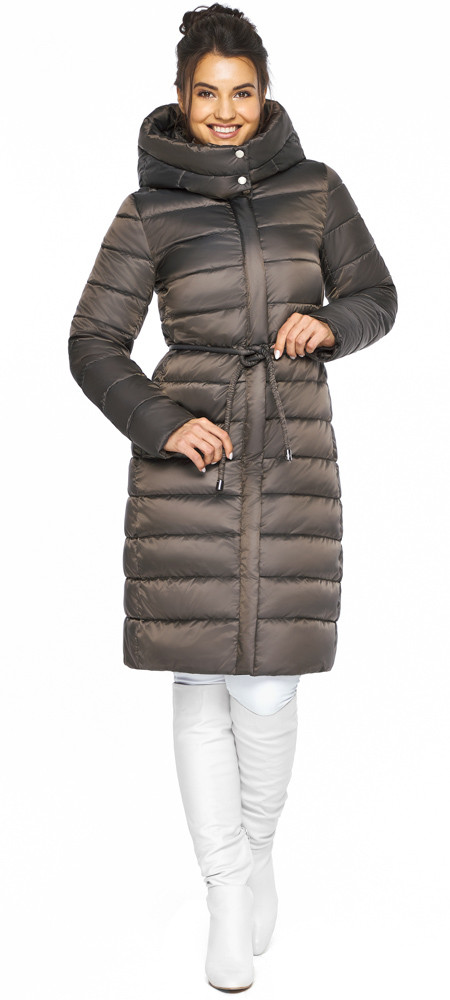 Куртка з капюшоном жіноча колір капучіно модель 44860