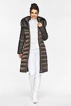 Куртка с капюшоном женская цвет капучино модель 44860, фото 3