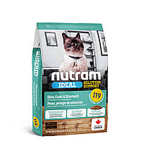 I19_NUTRAM Ideal Solution Support Skin_Coat_Stom Корм для взрослых котов с курицей и лососем 0.320 кг