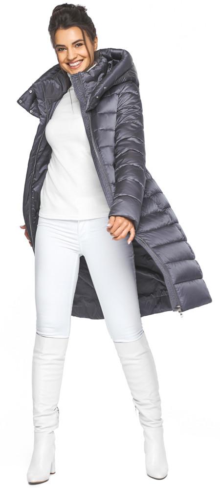 Сріблясто-сіра куртка жіноча стильна модель 44860