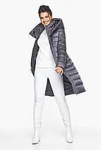 Жемчужно-серая куртка женская стильная модель 44860, фото 2