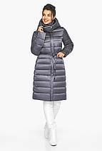 Жемчужно-серая куртка женская стильная модель 44860, фото 3
