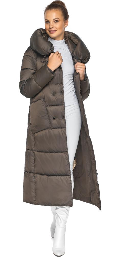 Куртка жіноча з накладними кишенями колір капучіно модель 46150