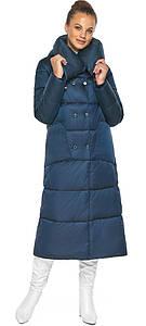 Куртка сапфировая женская с воротником модель 46150