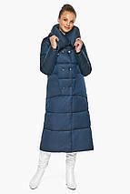 Куртка сапфірове жіноча з коміром модель 46150, фото 2