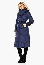 Куртка с воротником женская цвет синий бархат модель 47260, фото 2