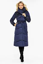 Куртка з коміром жіноча колір синій оксамит модель 47260, фото 3