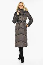 Капучиновая куртка женская с брендовой фурнитурой модель 47260, фото 2