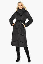 Черная куртка с карманами женская модель 47260, фото 2
