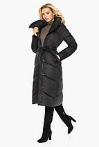 Чорна куртка з кишенями жіноча модель 47260, фото 3