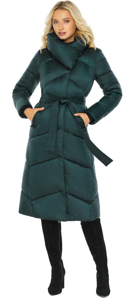 Смарагдова куртка жіноча елегантна модель 47260