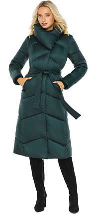 Смарагдова куртка жіноча елегантна модель 47260, фото 2