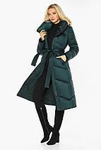 Смарагдова куртка жіноча елегантна модель 47260, фото 3