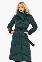 Изумрудная куртка женская элегантная модель 47260, фото 3