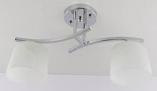 Люстра стельова на 2 лампочки 228/2A Хром 26х15х45 див.